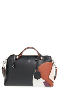 Fendi 'Small By the Way' Colorblock Leather Shoulder Bag available at #Nordstrom