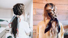 Bruna Ribeiro: CABELO: PENTEADOS COM LENÇOS Dreadlocks, Hair Styles, Beauty, Hairstyles With Scarves, Different Hairstyles, Horse Tail, Hair Type, Hair Down Hairstyles, Beleza