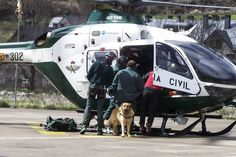 El helicóptero de la Guardia Civil en un rescate anterior en Benasque.