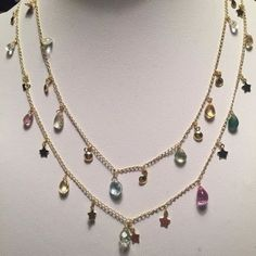 Showstopper Gemdrops and Stars Necklace exclusive to the Royal Academy of Dance by Lily Flo Jewellery