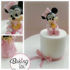 Baby minnie mouse cake by Baking Isi
