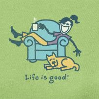 Every house needs at least one worn, comfy chair. Relax after spring cleaning!!! #Lifeisgood #ThinkSpring