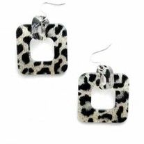 "Style# E782  Resin Squares  These chic earrings match bracelet Style# B791.  Resin is the trendiest accessory!  - Length: 2""  - Resin Square Pendant  - Nickel and Lead Compliant (Hypoallergenic)"