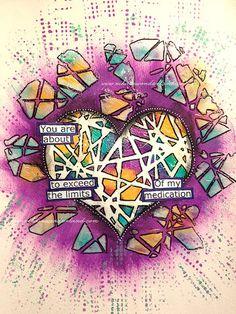 Art Journal Mixed Media - Original Art - Shattered