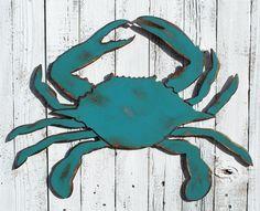 Blue Crab Nautical Decor Crab Sign Wood Crab Beach Decor Nautical Wall Art Restaurant Decor Beach Ho - Home Decor Woood Nautical Wall Art, Nautical Home, Nautical Anchor, Nautical Gifts, Don Chuy, Arte Pallet, Pallet Art, Pallet Projects, Crab Decor