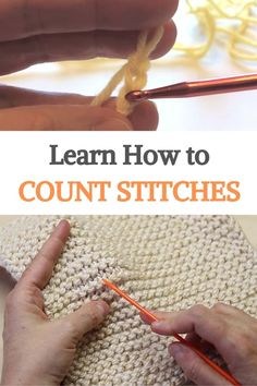 Crochet Basics, Diy Crochet, Crochet Crafts, Crochet Projects, Crochet For Beginners, Crochet Ideas, Knitting Help, Knitting Stitches, Knitting Yarn