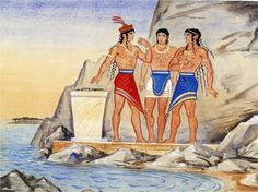 Minoan men shown in the fabrics the wrapped around themselves as skirts. Small waist to enhance the top half of the mans body.