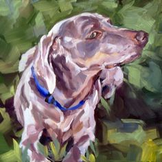 Zena the Weinheimer, painting by artist Nancy Spielman - I want to try out this style of painting. I'm sure it's going to be harder than it looks...