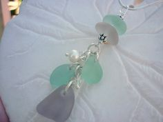 Sea Glass Necklace Aqua Purple Beach Glass Seaglass Jewelry TheMysticMermaid