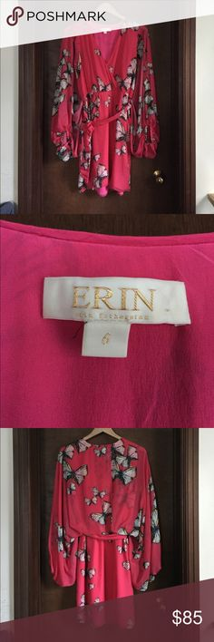 Erin Featherston Butterfly Dress Beautiful Erin Featherston dress in brand new condition. Has beautiful slit arms and a tied waist that is very flattering. Size 6. ERIN by Erin Fetherston Dresses Mini