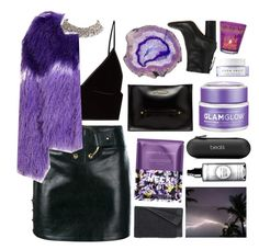 """Untitled #2878"" by tacoxcat ❤ liked on Polyvore featuring Anthony Vaccarello, T By Alexander Wang, Dr. Martens, GlamGlow, Isabel Marant, Herbivore, Beats by Dr. Dre, Nannette de Gaspé, Smashbox and Natori"