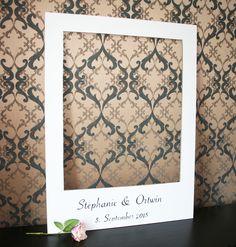 Accessoires - Polaroid Rahmen für Photobooth Session Hochzeit - ein Designerstück von Wedding-Board bei DaWanda