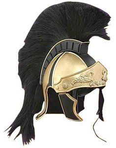 Greco Roman Black Crest Helmet