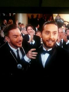 Pure Joy.. The Leto Bros, Jared Leto's Golden Globe Best Supporting Actor Win for his role of Rayon in Dallas Buyers Club 2014.