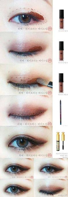 Korean style make up #eye make up #idea: #Koreanmakeuptutorials