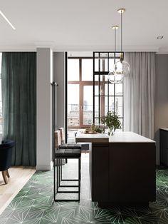 Un appartement en couleurs sombres à St Petersbourg | PLANETE DECO a homes world | Bloglovin'