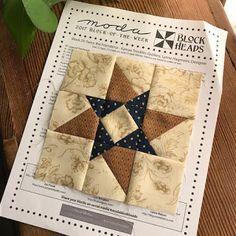 Moda Blockheads 2017 Betsy Chutchian Twice the Friendship Star quilt block number 25
