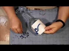 Wine Glass Embellishment Tutorial - Bling! - YouTube