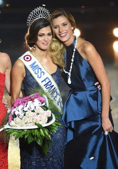 Camille Cerf, Miss France 2015, et Iris Mittenaere, Miss France 2016.