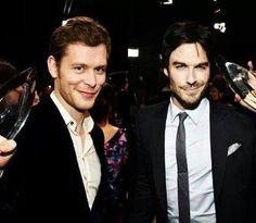 """The Vampire Diaries"" Dangerous lovelies: Klaus (Joseph Morgan) and Damon (Ian Somerhalder)...."