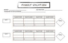 Family Vacation Activity