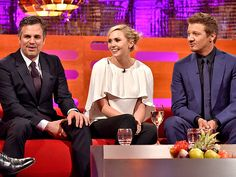 Star Tracks: Friday, April 24, 2015 | A SUPER TIME | A few of the Avengers – Mark Ruffalo, Elizabeth Olsen and Jeremy Renner – assemble at the Graham Norton Show to chat about the new Avengers: Age of Ultron film in London on Thursday.