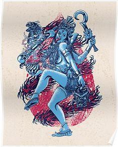 Kali Carry All Pouch / Travel & Pencil Pouch by Jorge Garza - Medium x Kali Goddess, Indian Goddess, Goddess Art, Kali Tattoo, Kali Mata, Goddess Tattoo, Hindu Deities, My Demons, Hindu Art