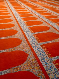 Red carpet, Sulemaniye Mosque, Istanbul