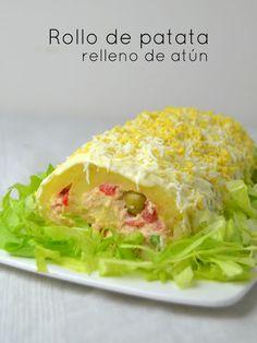Rollo de patata rellena de atún. Videoreceta | Cuuking! Recetas de cocina