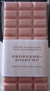 White chocolate bar with strawberry yoghurt from the Gut & Gerne #chocolate shop in #Dusseldorf, #Germany, #food