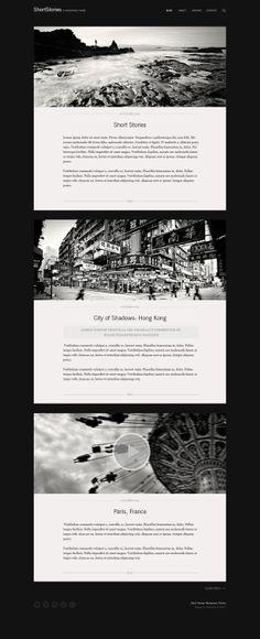 ShortStories Wordpress Theme by Webvilla , via Behance