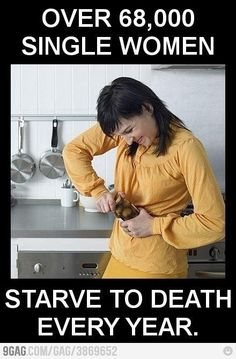 Fact: Over 68,000 single women starve to death.....
