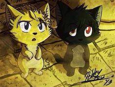 Sting and Rogue as kitties!! So Kawaii!!!!!