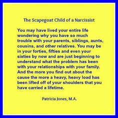 My life exactly. Narc mother is gone but her deadly TOXIC legacy lives on in my sisters and brothers. No more!  The scapegoat child of a narcissist ☼