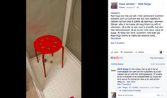 Man gets his testicle stuck in an IKEA chair, predictably complains on Facebook