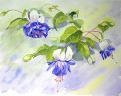 Rachel McNaughton WATERCOLOR Kids Watercolor, Watercolor Flowers, Watercolor Paintings, Art Floral, Botanical Art, Painting Inspiration, Art Boards, Painting & Drawing, Flower Art