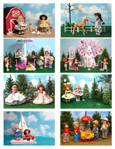 Vintage Ginny Doll 'On the Go' Greeting Cards