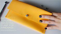 DIY TUTORIAL industrial clasp for handbag belt  jak zrobić zapięcie do torebki paska?
