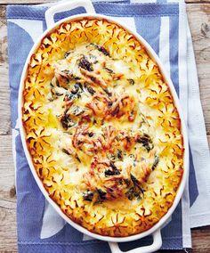 Torskrygg Florentine med spenat - Recept Tina Nordström - Sugar Cravings, Quiche, Food And Drink, Fish, Snacks, Baking, Dinner, Eat, Breakfast