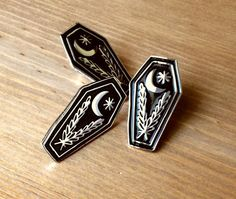 LAY ME DOWN 1.25 Coffin Soft Enamel Pin by catxbonecraft on Etsy