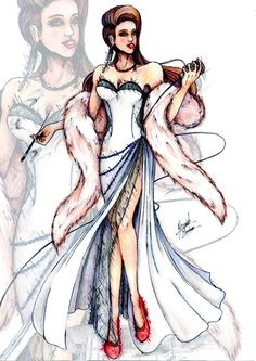 Fashion sketches by Yanick Monteiro - Yanick Monteiro is Portuguese Fashion…
