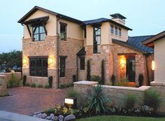 Tx hill country home Hill Country Homes, Texas Hill Country, Country House Plans, Country Style Homes, Country Living, Texas Style Homes, Different Architectural Styles, House Goals, House Floor Plans