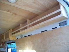 Shelves for side walls // #vanlife #travel #diy