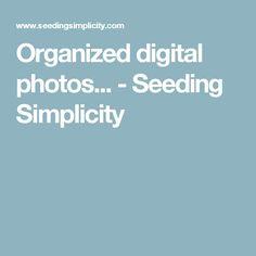 Organized digital photos... - Seeding Simplicity