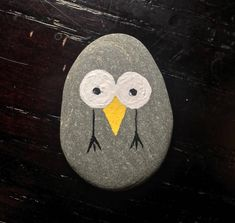 Bird Thing - hand painted rock art gift unique geocaching by ImaginationCanada on Etsy https://www.etsy.com/listing/535417753/bird-thing-hand-painted-rock-art-gift