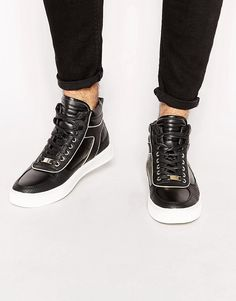 ASOS High Top Trainers With Snakeskin Effect saved by #ShoppingIS
