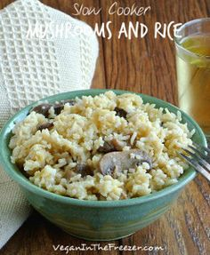 Dump and Go Mushrooms and Rice
