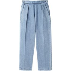 Rachel Comey Westside Pant (€130) ❤ liked on Polyvore featuring pants, bottoms, trousers, pantalones, брюки, blue trousers, rachel comey pants, rachel comey, pleated pants and blue pants