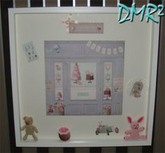 DMR²: FRAME FOR BABY'S ROOM - TILDA AND CROCHET
