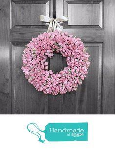 Mini Pink Rose Bud Wreath from Refined Wreath http://www.amazon.com/dp/B016D2MJ66/ref=hnd_sw_r_pi_dp_93Mrwb06PG4KN #handmadeatamazon